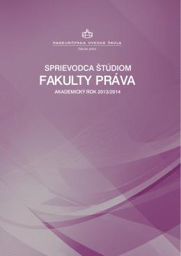 FAKULTY PRÁVA - Panevropská vysoká škola