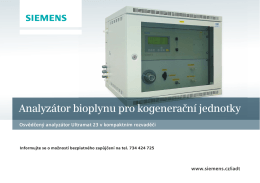 Analyzátor bioplynu pro kogenerační jednotky