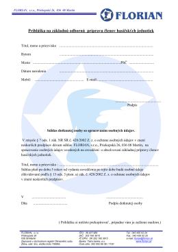 Prihláška na základnú odbornú prípravu členov