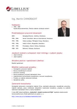 Ing. Martin CHINORACKÝ