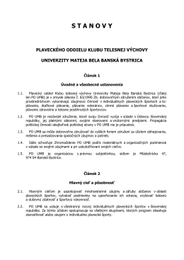 Stanovy PO KTV UMB Banská Bystrica