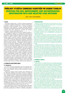 príklady využitia chemickej injektáže pri razení tunelov grouting for