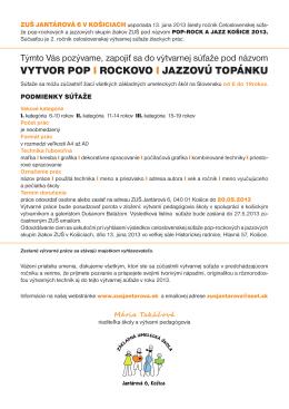 VYTVARNA_SUTAZ.pdf - ZUŠ Jantárová 6, Košice
