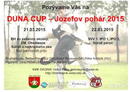 DUNA CUP – Jozefov pohár 2015