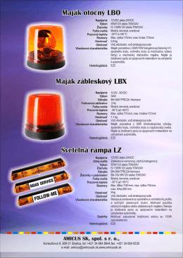 Maják otocný LBO Maják zábleskový LBX Svetelná