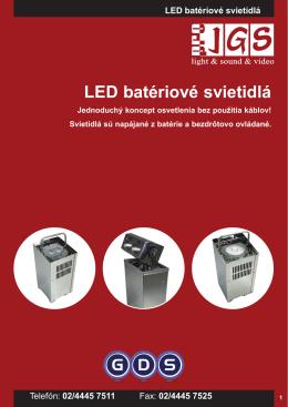 LED batériové svietidlá