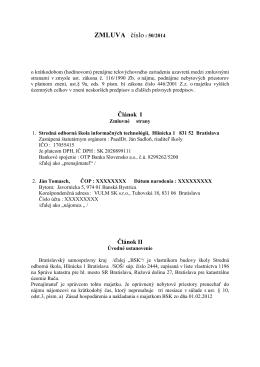 Zmluva 50-2014 - SOŠ Informačných technológií