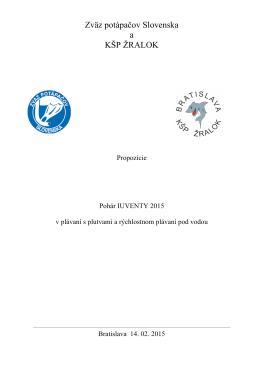 Propozície - Zväz potápačov Slovenska