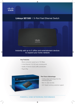 Linksys SE1500 I 5-Port Fast Ethernet Switch