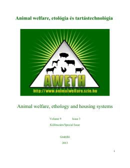 Animal welfare - 9. évf. 3. sz. (2013.) - Különszám
