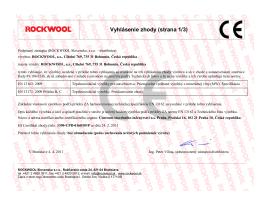 Vyhlásenie zhody Rockwool