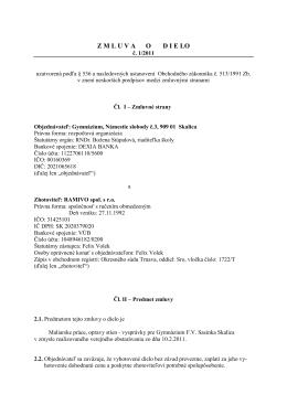 Zmluva o dielo - maľovanie po oprave 1 2011
