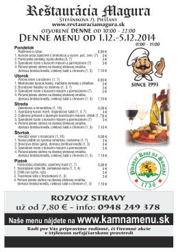 Denne menu A4