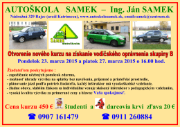 23.03.2015 - Autoškola Samek