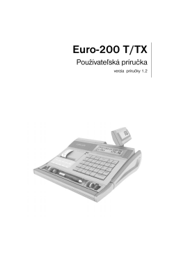 Manuál pre EURO-200 T/TX
