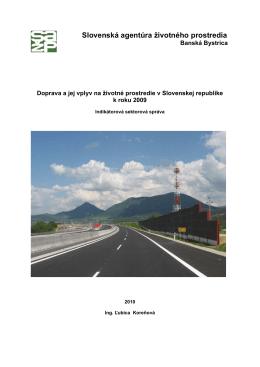 Doprava a jej vplyv na životné prostredie v