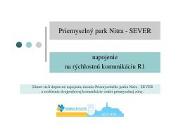 Priemyselný park Nitra - SEVER