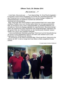 Offener Tisch, 30. Oktober 2014