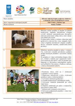 Oživenie vidieckej krajiny podporou včelárstva a