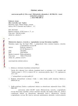 Záložná zmluva - Obec Jastrabie nad Topľou