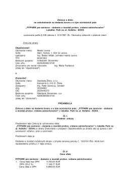 FITPARK pre seniorov - dodanie a montáž prvko