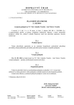 PO142-2014 - Váh - Treníčn - časť Ostrov Trenčín