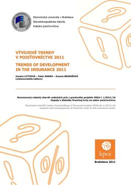 Vývojové trendy v poisťovníctve 2011