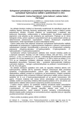 Schopnosť prírodných a syntetických hydroxy-derivátov
