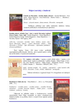 Novinky maj 2009