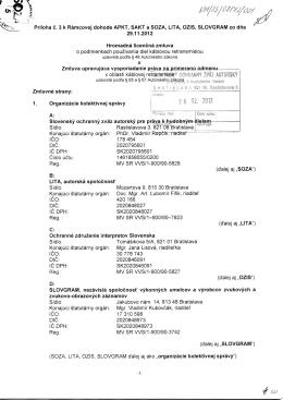 Hromadná licenčná zmluva o podmienkach používania diel