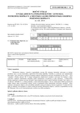 invd (mdvrr sr) 1-01 - Štatistický úrad SR