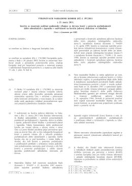 Vykonávacie nariadenie Komisie (EÚ) č. 297/2011 z 25