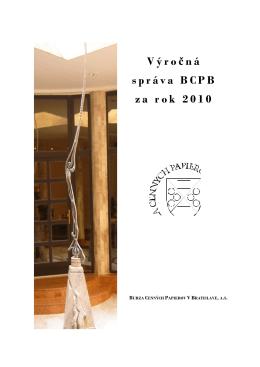 Výročná správa BCPB