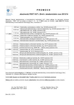 promoce - Fakulta elektrotechniky a komunikačních technologií VUT