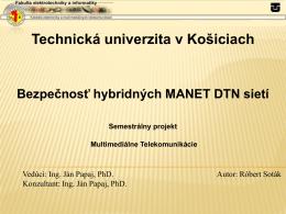 Bezpečnosť hybridných MANET – DTN sietí