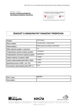 Príloha 2 - Program švajčiarsko