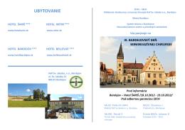 UBYTOVANIE - Nemocnica s Poliklinikou