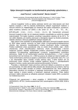 Vplyv iónových kvapalín na konformačné prechody