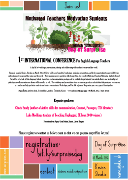 1ST INTERNATIONAL CONFERENCE For English Language