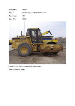 EČ majetku: 47 516 Typ: : Valec zemný CATERPILLAR