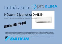 Nástenná jednotka DAIKIN - Pro