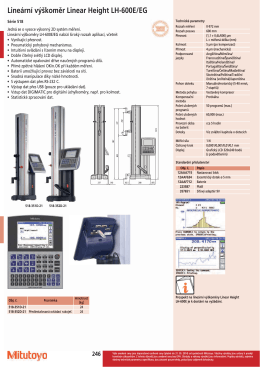 Lineární výškoměr Linear Height LH-600E/EG