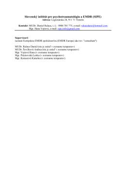 Slovenský inštitút pre psychotraumatológiu a EMDR (SIPE)[pdf]
