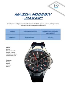 """Mazda Hodinky """"dakar"""""""