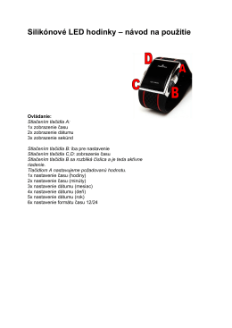 Silikónové LED hodinky – návod na použitie