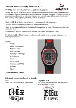 Športové hodinky – stopky SIGMA SC 6.12