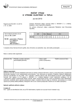 Energ 4-01 - Štatistický úrad SR