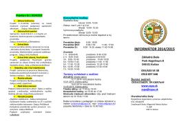 INFORMÁTOR 2014/2015