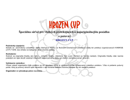 Hrozen Cup - Kanoistika.sk