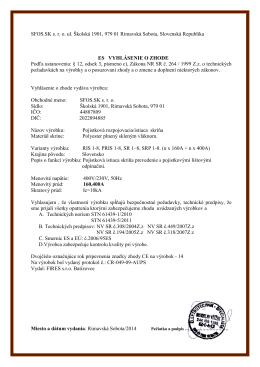 SFOS.SK s. r. o. ul. Školská 1901, 979 01 Rimavská Sobota